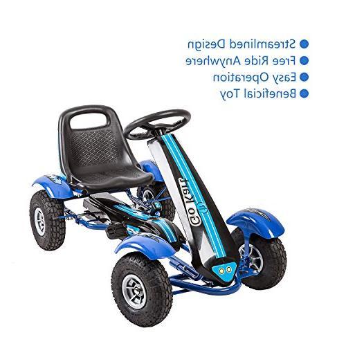 Kinbor Go Powered Ride On Toys with Adjustable Blue