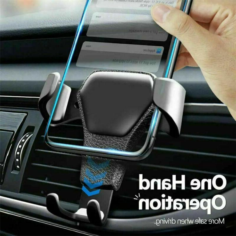 Gravity Air Mount Phone Holder for iPhone 11 Max 10
