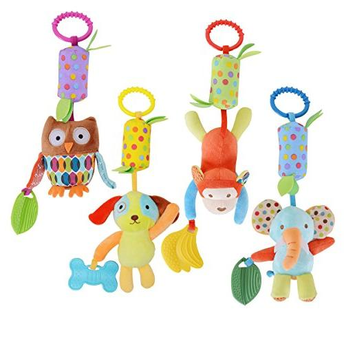 haha baby soft hanging rattle toy infant stroller car seat c