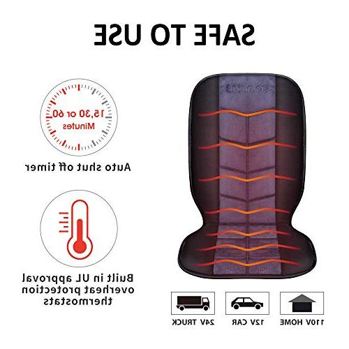 COMFIER Cushion - Universal 12V Car Heater with Levels of Pad Full Back and Heated Seat Car,Home,Office Chair CF-2613