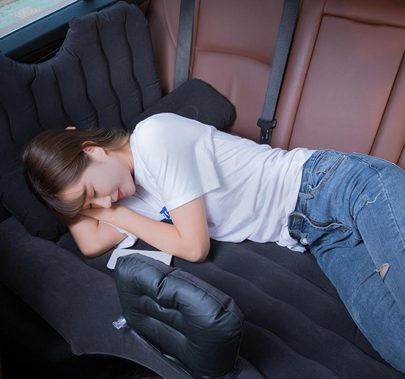 Inflatable Car Bed Mattress with Seat Pillow Sleeping