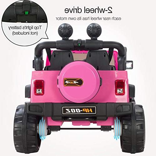 Uenjoy on 12V Motorized with Remote Control, 3 Speeds, Head HP-002, Pink
