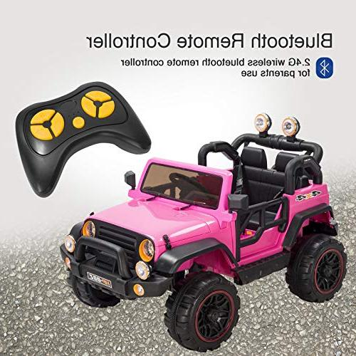 Uenjoy Ride Motorized Cars with Remote Control, Speeds, Head HP-002,