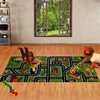 Kids' Activity Play Rug - City Street & Railroad Designs For