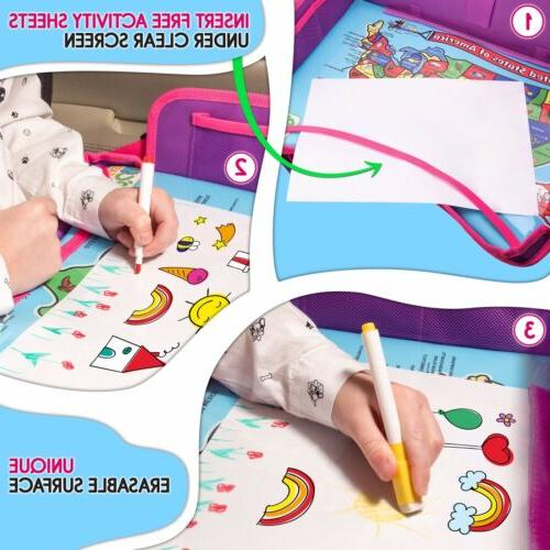 Kids Car Seat Travel Tray Table - Baby Travel Desk