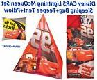 Kids Disney CARS McQueen TEEPEE Tent + SLUMBER Sleeping BAG