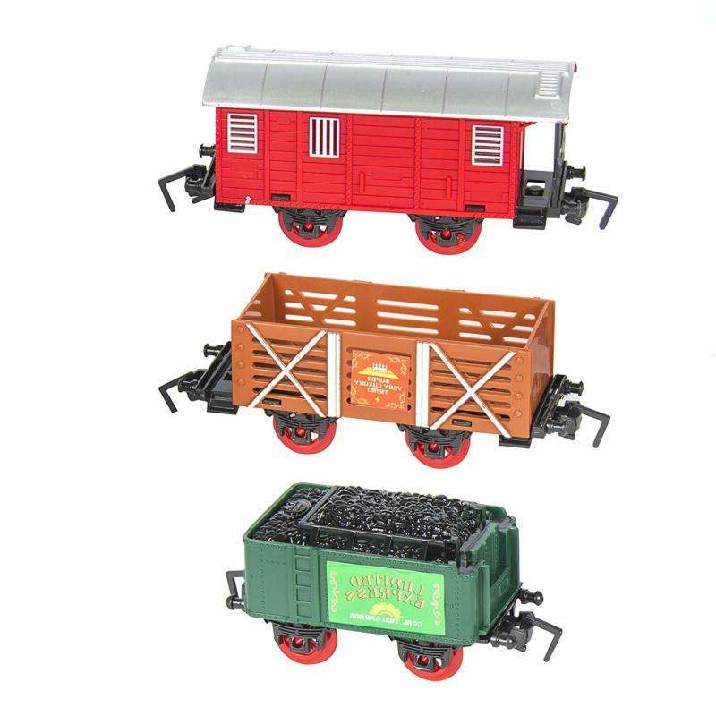 Best Choice Products Classic Electric Train Car Track Set for Play