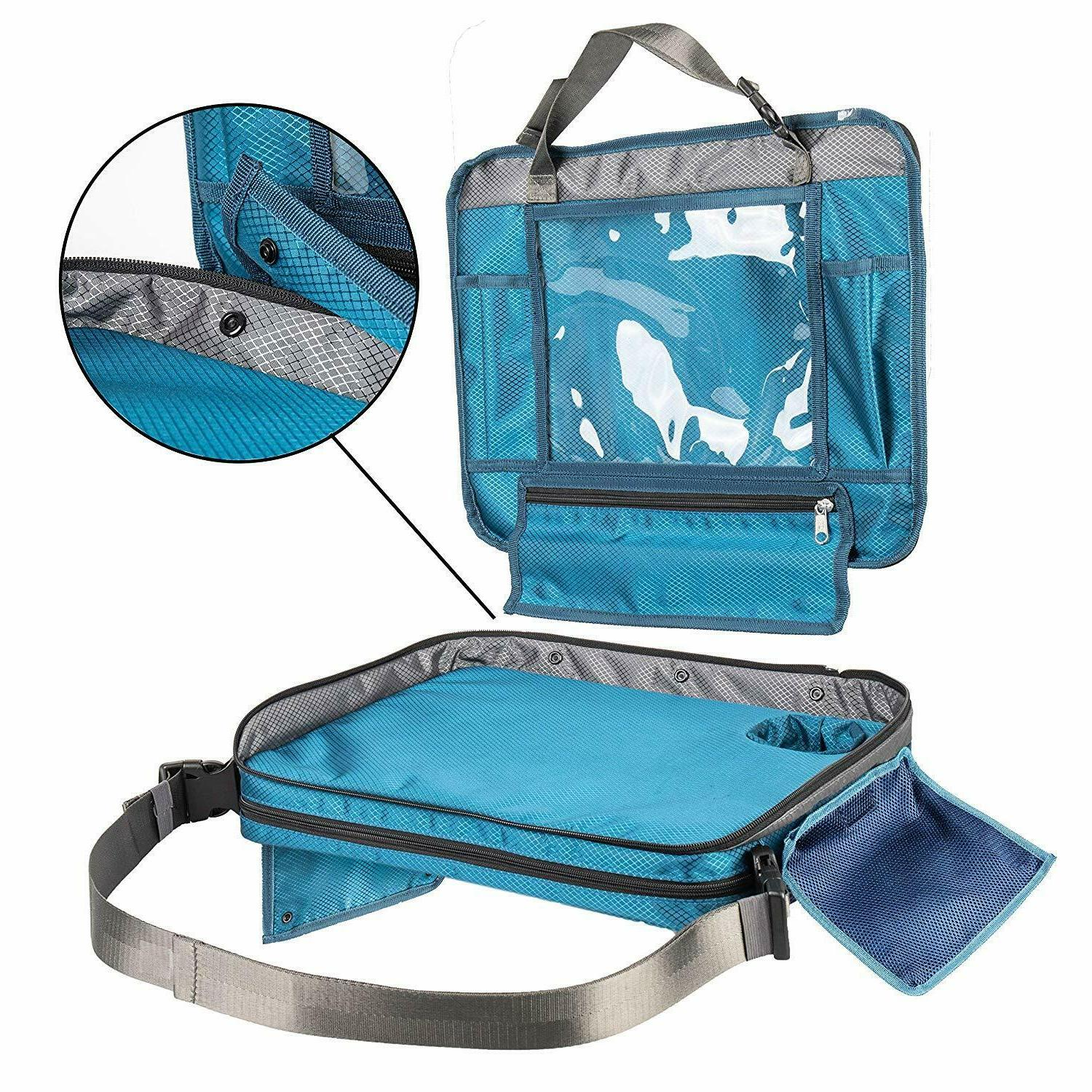 Kids Travel Tray for Car Seat. in Lap Desk, Organizer,