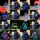 Laser Engraved Crystal Car Logo Keychain LED Light Wall Hang