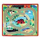 Melissa & Doug Round the Town Road Rug & Car Activity Play S