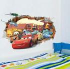 NEW Disney Cartoon lightning McQueen Cars HUGE Wall Stickers