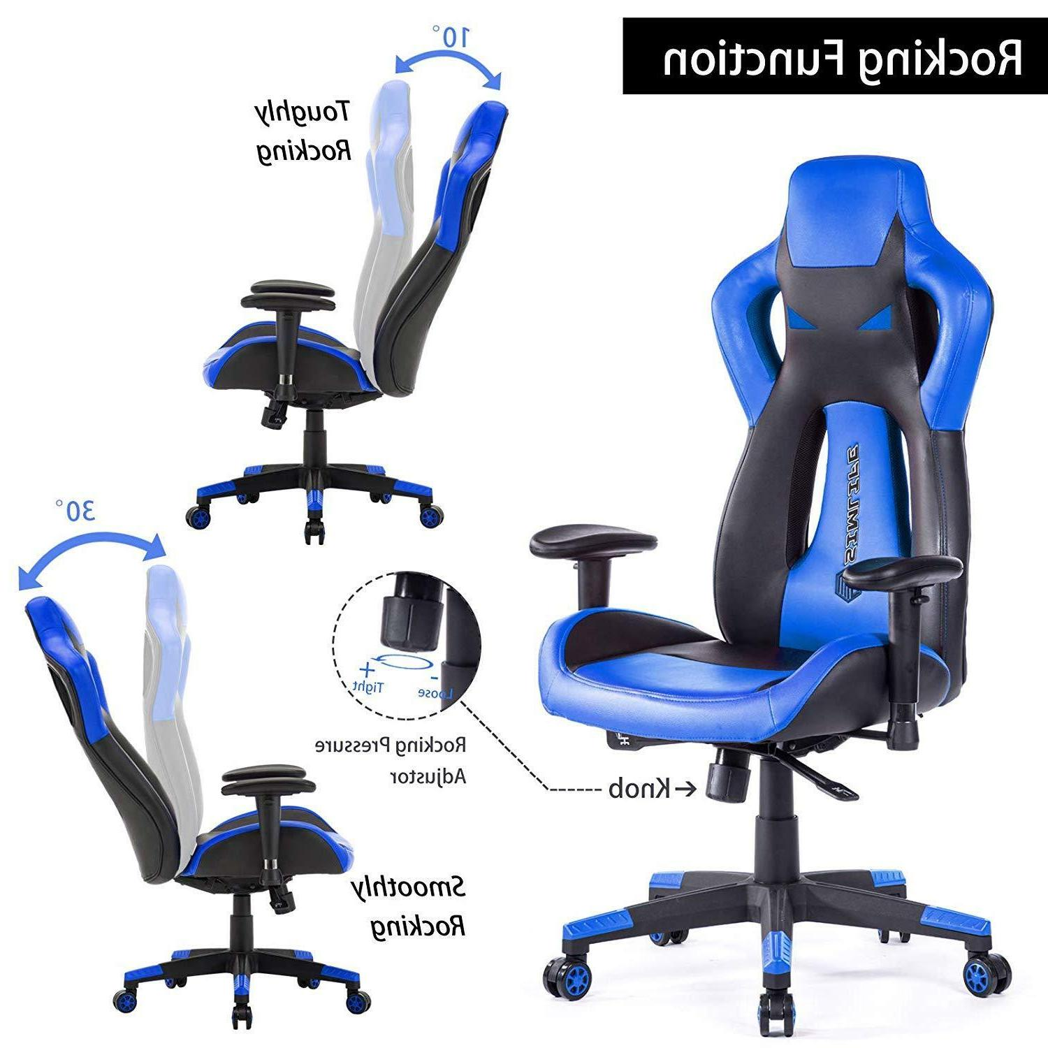 High Back Racing Car Style Office Gaming Chair or L-Shape Desk