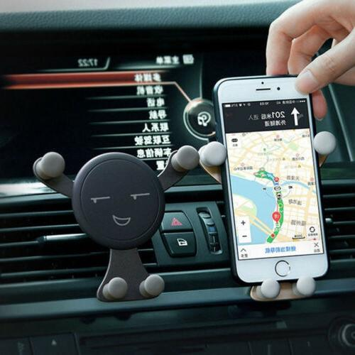 Novelty Gravity Air Vent Cradle Stand Cell Phone GPS