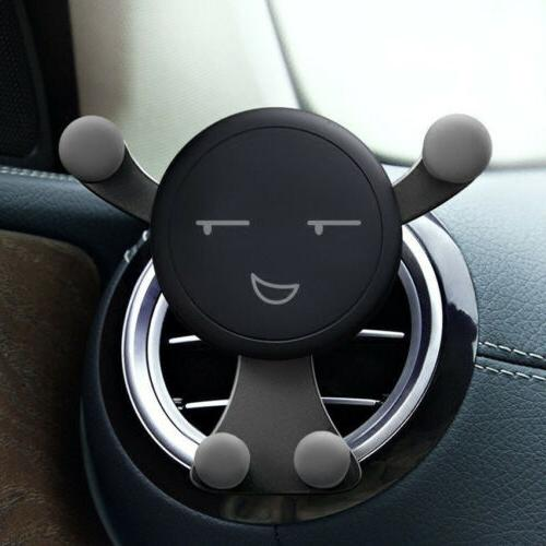 novelty gravity car mount air vent phone