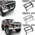 RC Car Accessories Metal Front Bumper W/ LED Light for TRAXX