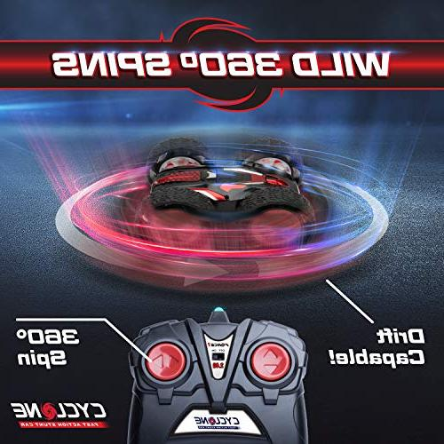 Remote Boys or Cyclone Flipping RC Cars or Radio Stunt Vehicle Toys
