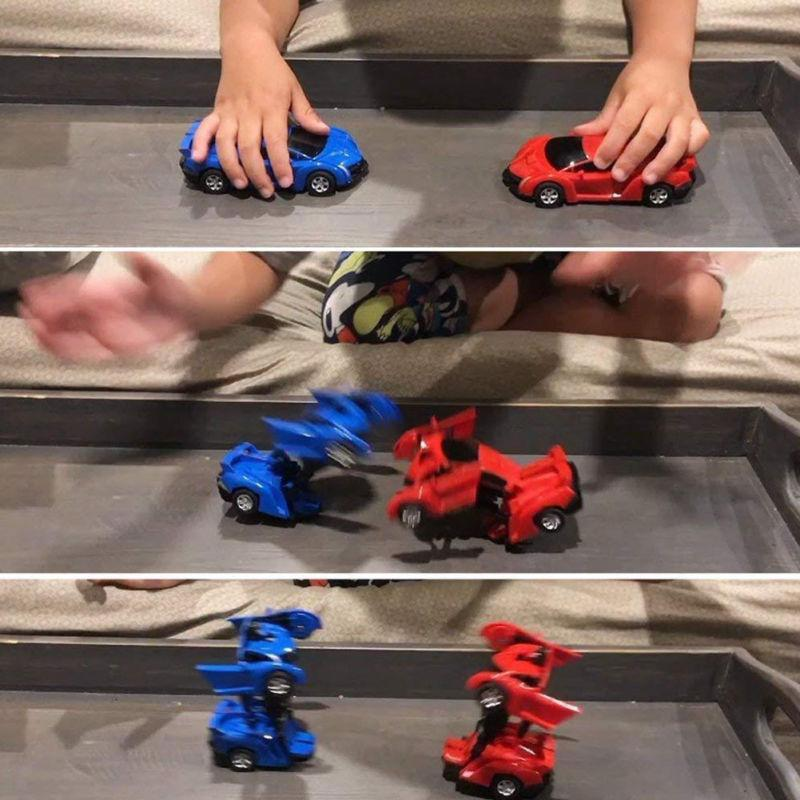Toys For Transformers Car Kids Toy Play Blue/Red