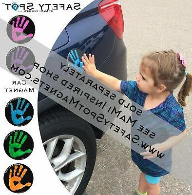Safety ™ - Handprint for Car Safety GRAY Background
