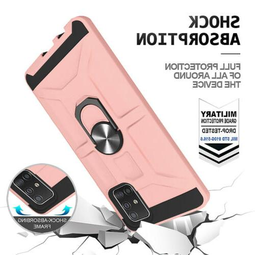 For A71 Case, Ring Kickstand Cover+Screen Protector+Holder