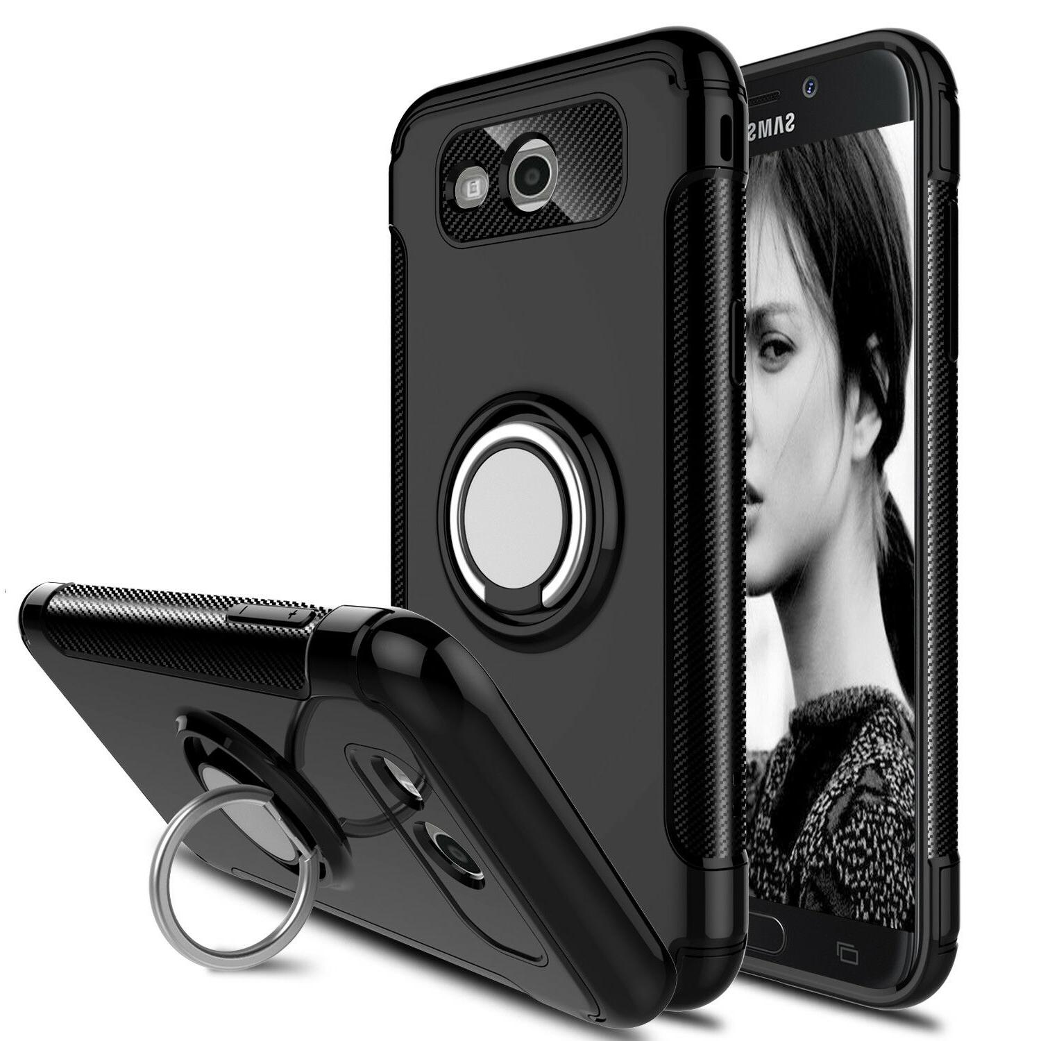 For Galaxy 2017 Pro Phone Case Hybrid Ring