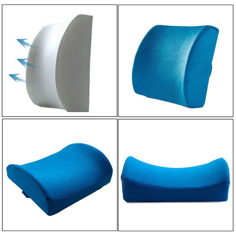 Soft Memory Foam Support Back Cushion Pillow <font><b>For</b></font> Pillows Home Relieve Pain