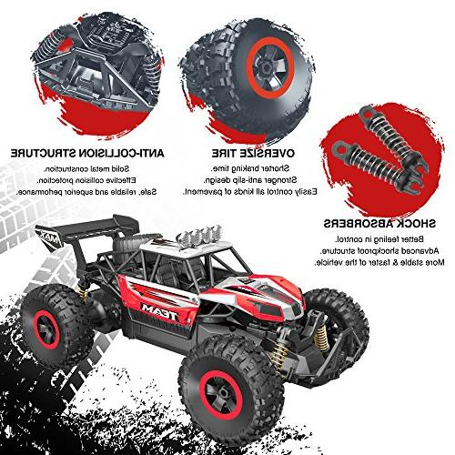 RC Car, 2.4 GHz High Remote Scale Off Road Trucks Batteries, for All Kids