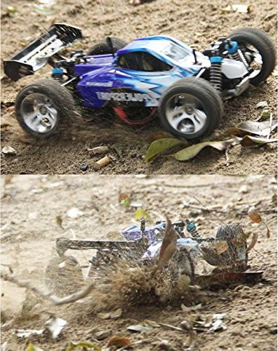 TOZO High Speed 32MPH Fast Race Cars RC RTR Racing 4WD POWER W/2.4G Off Road Roadster Blue