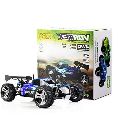 High Speed 32MPH 4x4 Fast RC 4WD POWER W/2.4G Radio Remote Off Truck Powersport Roadster Blue