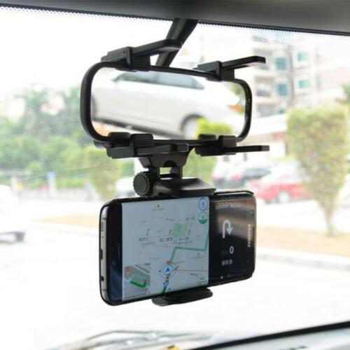 Universal Auto Rear-view Mirror Mount Stand Cradle For Cell GPS