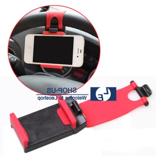 New Universal Car Steering Wheel Clip Mount Cradle Holder St