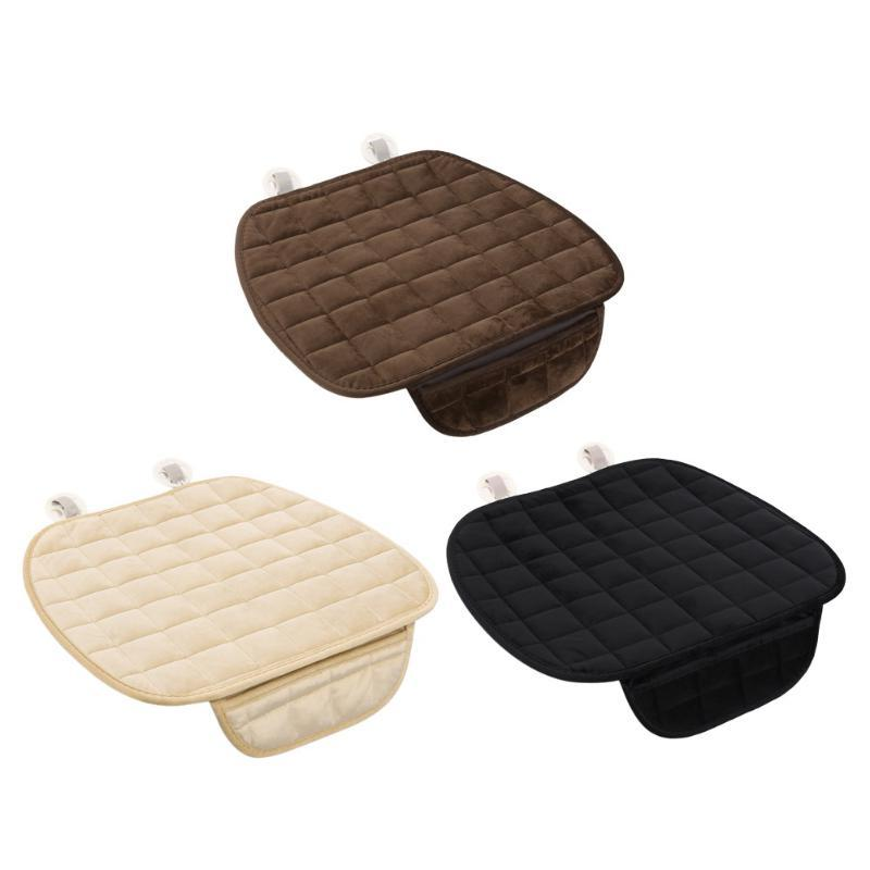 Universal Seat Winter Plush Anti Slip Cushion <font><b>Chair</b></font> Soft Breathable Cover