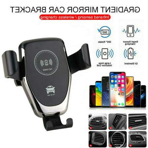 US Automatic Qi Wireless Car Mount Air Holder