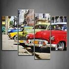 Vintage American Cars Wall Art Painting Pictures Print Canva