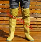 Womens Waterproof Rain High Boots Mens Fishing Lace Up Plus