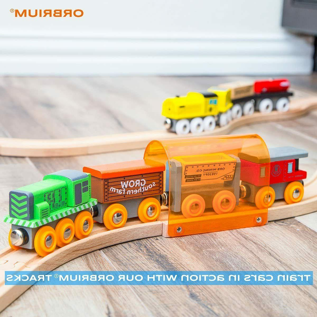 Wooden Train Magnetic Wood Thomas Brio Toy for Kids