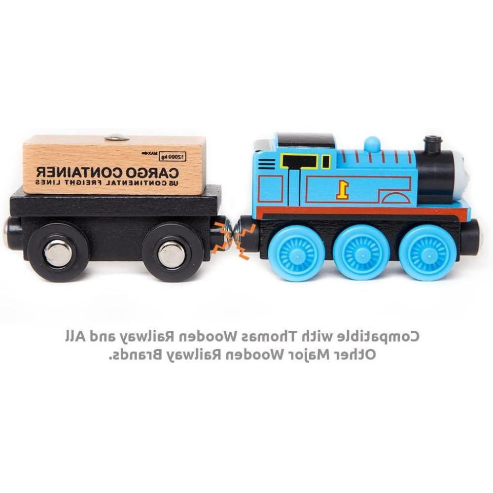 Wooden Set Magnetic Wood Train Cars Thomas Toy Kids
