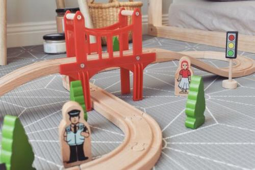 🚝Wooden Train Tracks Set For Toy Children Play Car Pcs