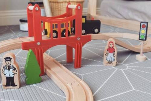 🚝Wooden Train Tracks For Kids Toddler Children Car Pcs