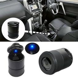 LED Auto Car Truck Cigarette Smoke Ashtray Ash Cylinder hold