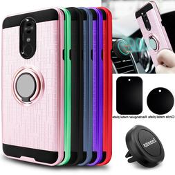 For LG Stylo 4/4 Plus/4+ Hybrid Ring Holder Stand Case Cover