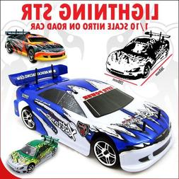 Redcat Racing Lightning STR Nitro Car, Green/White, 1/10 Sca