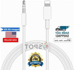 Lightning to 3.5mm AUX Audio Car Adapter Cable Cord For iPho
