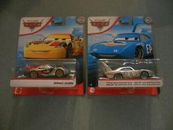 Lot of 2 Disney Cars Diecast Silver Collection The King & Mi