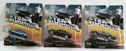 Lot of 3 Fast & Furious Die-cast Cars Maserati, Charger, and