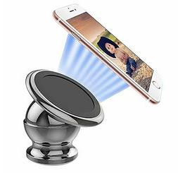 Magnetic Car Cell Phone Dash Mount Holder 360 Rotating For i
