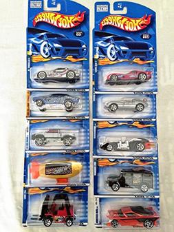 Mattel Hot Wheels 10 Pack Die-cast Cars Set Lot  No Duplicat