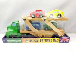 Melissa And Doug Car Carrier Toy Wooden Toy Set For Toddlers