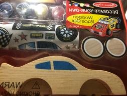 Melissa and Doug Decorate-Your-Own Wooden Race Car - Brand N