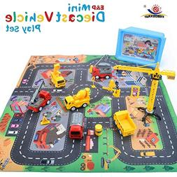 EXERCISE N PLAY Mini Construction Vehicle Play Set with a Ki