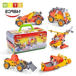 Model Building Blocks Toys Set Cars Airplane DIY Kits to Bui